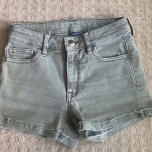 American Eagle Olive Green Jean Shorts